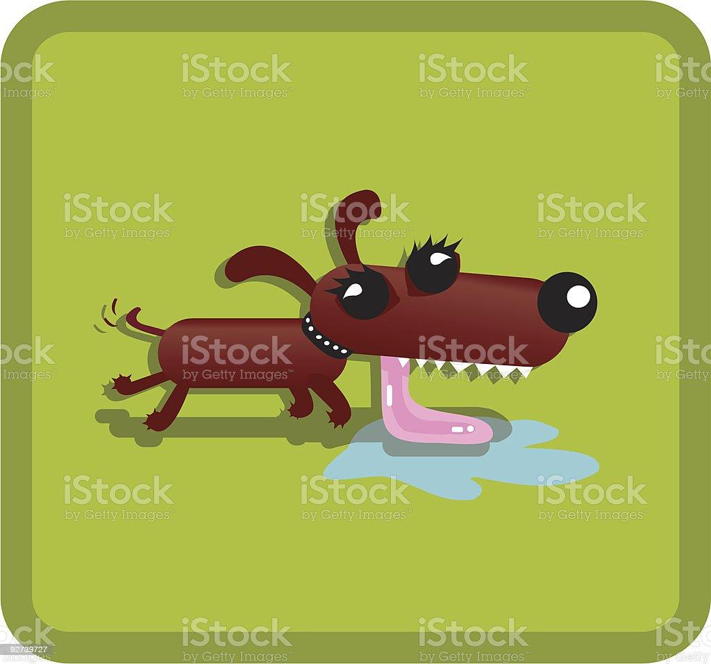 Dog with big tongue royalty-free stock vector art