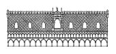 '19th-century engraving of the Doge's Palace in Venice, Italy. Illustration published in Systematische Bilder-Gallerie, Karlsruhe und Freiburg (1839).'