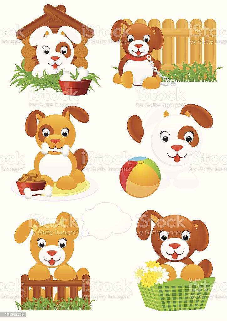 Dogs royalty-free stock vector art