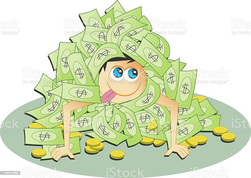 Dollar Heap royalty-free stock vector art