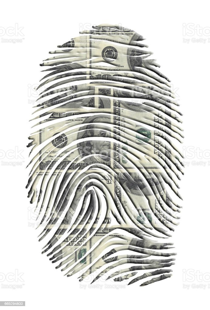 US Dollars FInger Print vector art illustration