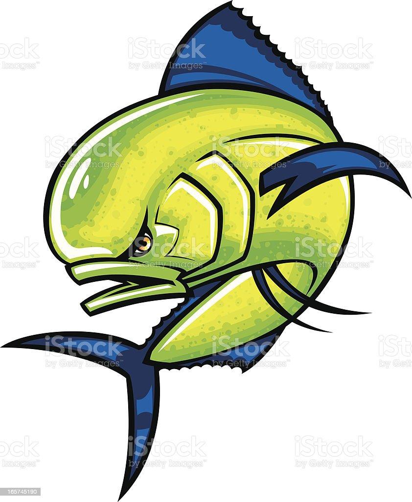dolphin fish vector art illustration