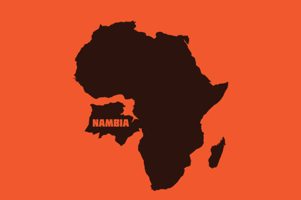 illustrazioni stock, clip art, cartoni animati e icone di tendenza di un, new york, usa - nambia donald trump misnamed namibia in a un speech, calling it 'nambia' and thereby invents an entirely new african country. - trump