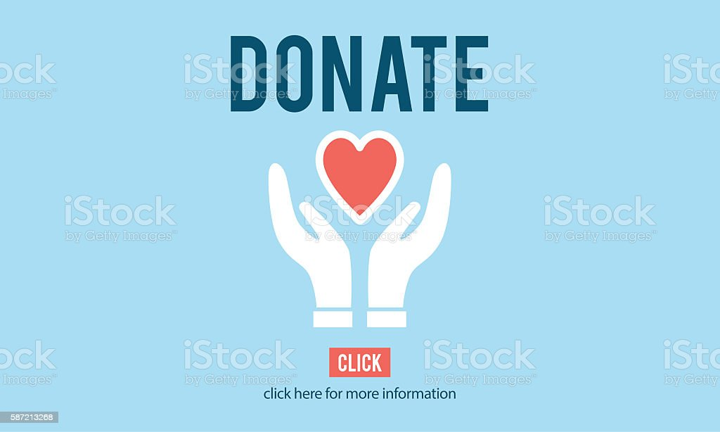Donate Charity Give Help Offering Volunteer Concept vector art illustration