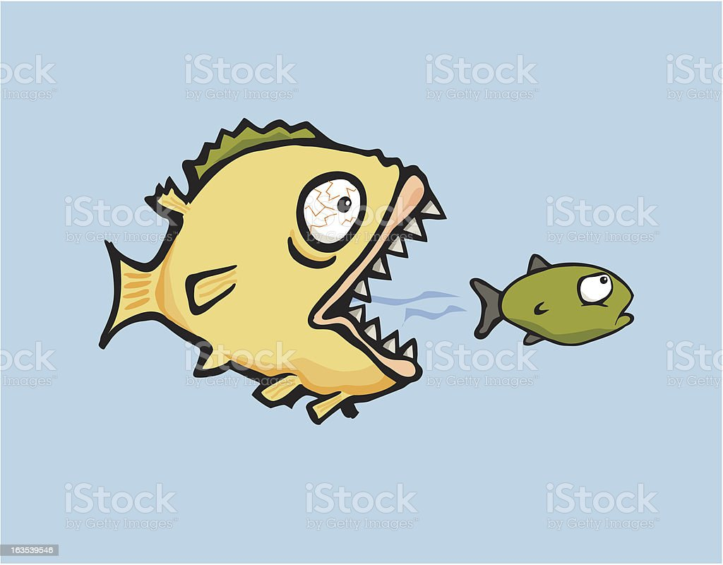 Don't eat me - Big Fishy vector art illustration