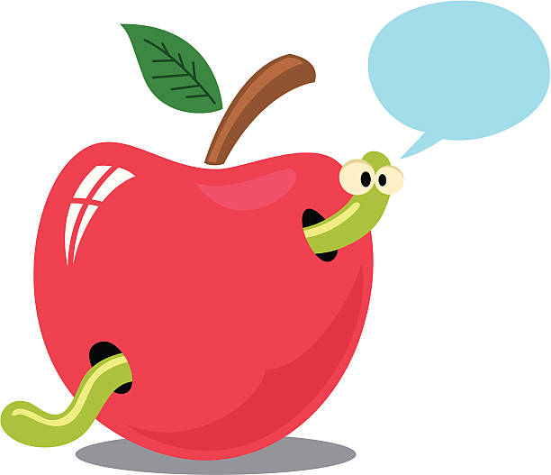 dont eat my house - rotten apple stock illustrations, clip art, cartoons, & icons