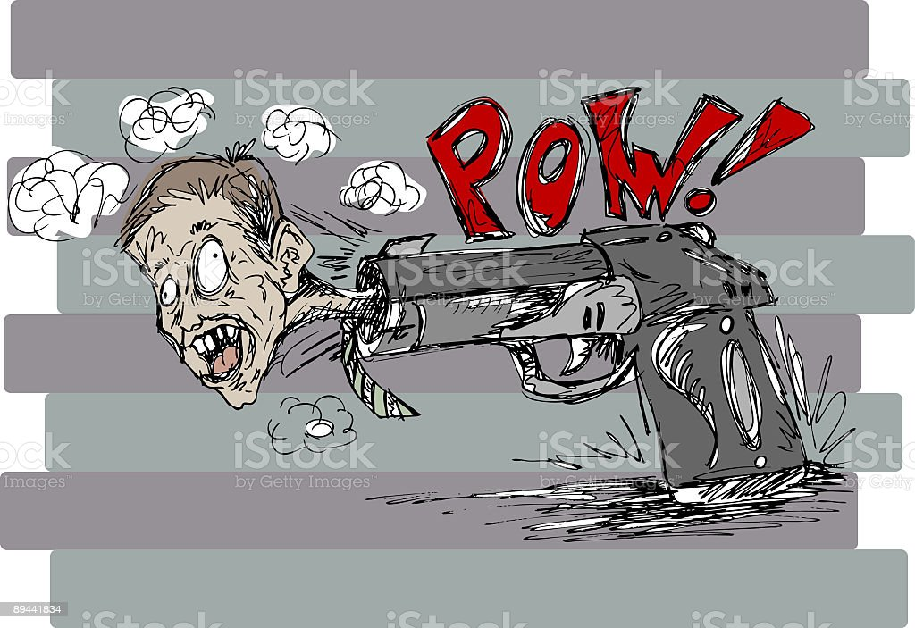 Don't put a gun to my head...... royalty-free dont put a gun to my head stock vector art & more images of art