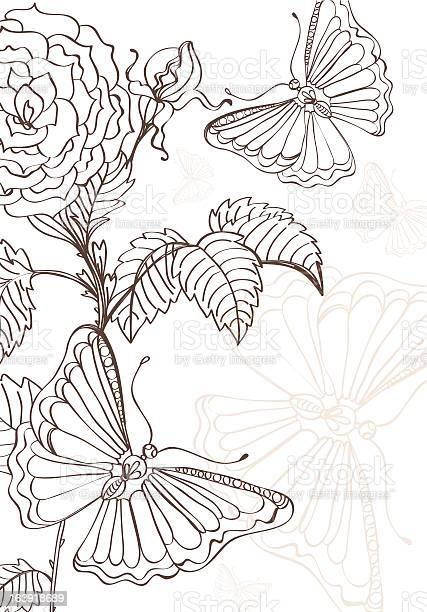 Doodle background with roses and butterflies handdrawing illustration id163918689?b=1&k=6&m=163918689&s=612x612&h=eyb1k810n5ivflt2uktwfm9pbvw2kf9q1fs0jubxjpe=