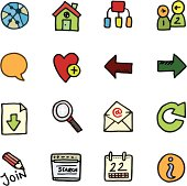 A set of doodle icons.