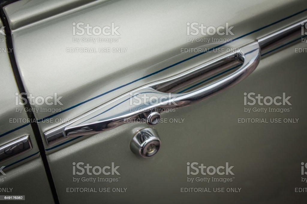 Door handle vector art illustration
