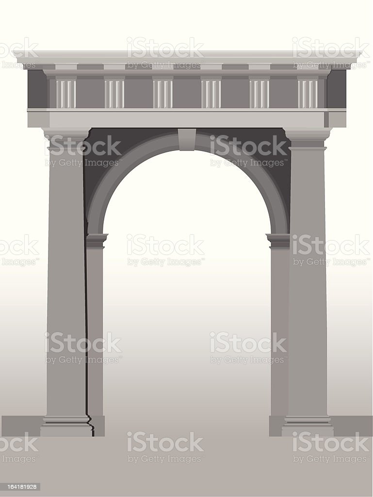 doric entrance royalty-free stock vector art