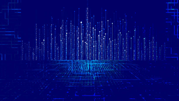 Dotted line, 01 binary data, Internet big data background. Dotted line, 01 binary data, Internet big data background. digitized stock illustrations