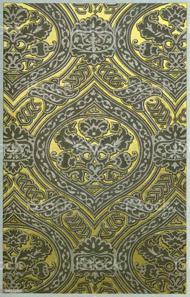 Double Mullion Funicular Pattern vector art illustration