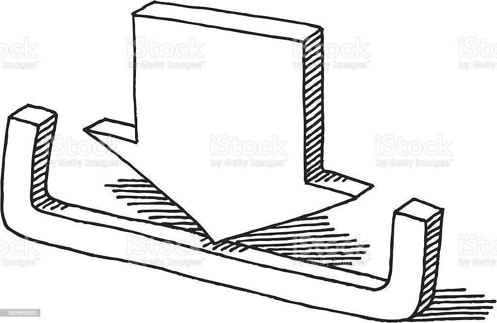 Download Arrow Symbol Drawing royalty-free stock vector art
