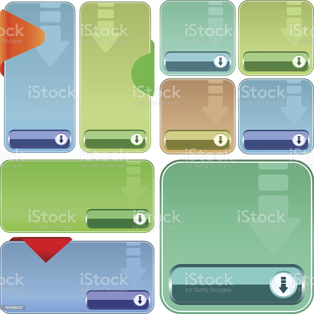 Download button set. royalty-free stock vector art