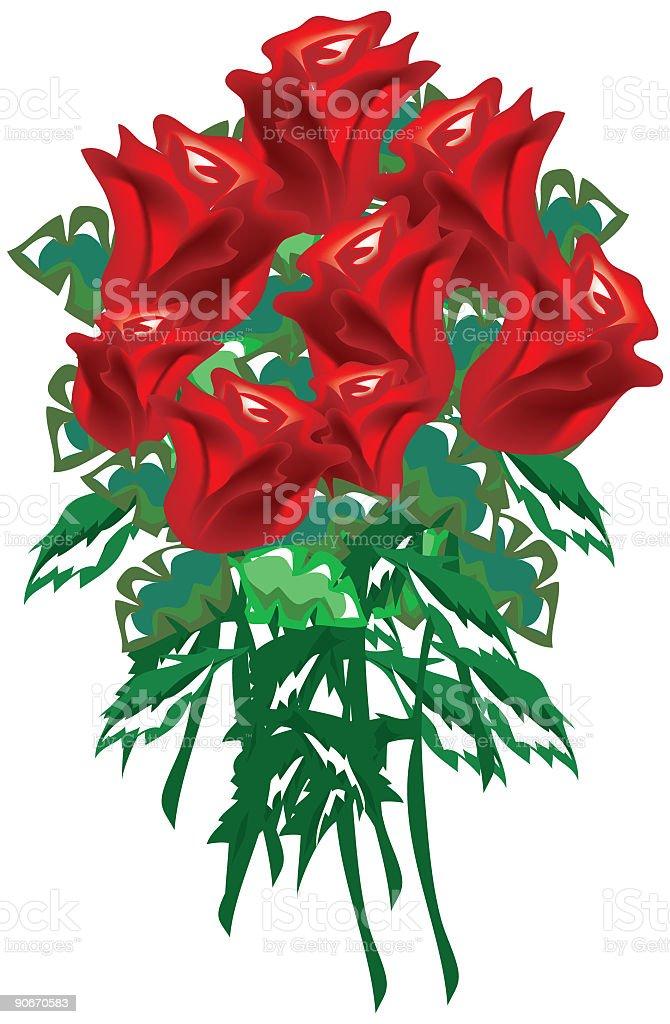 Dozen Roses royalty-free stock vector art