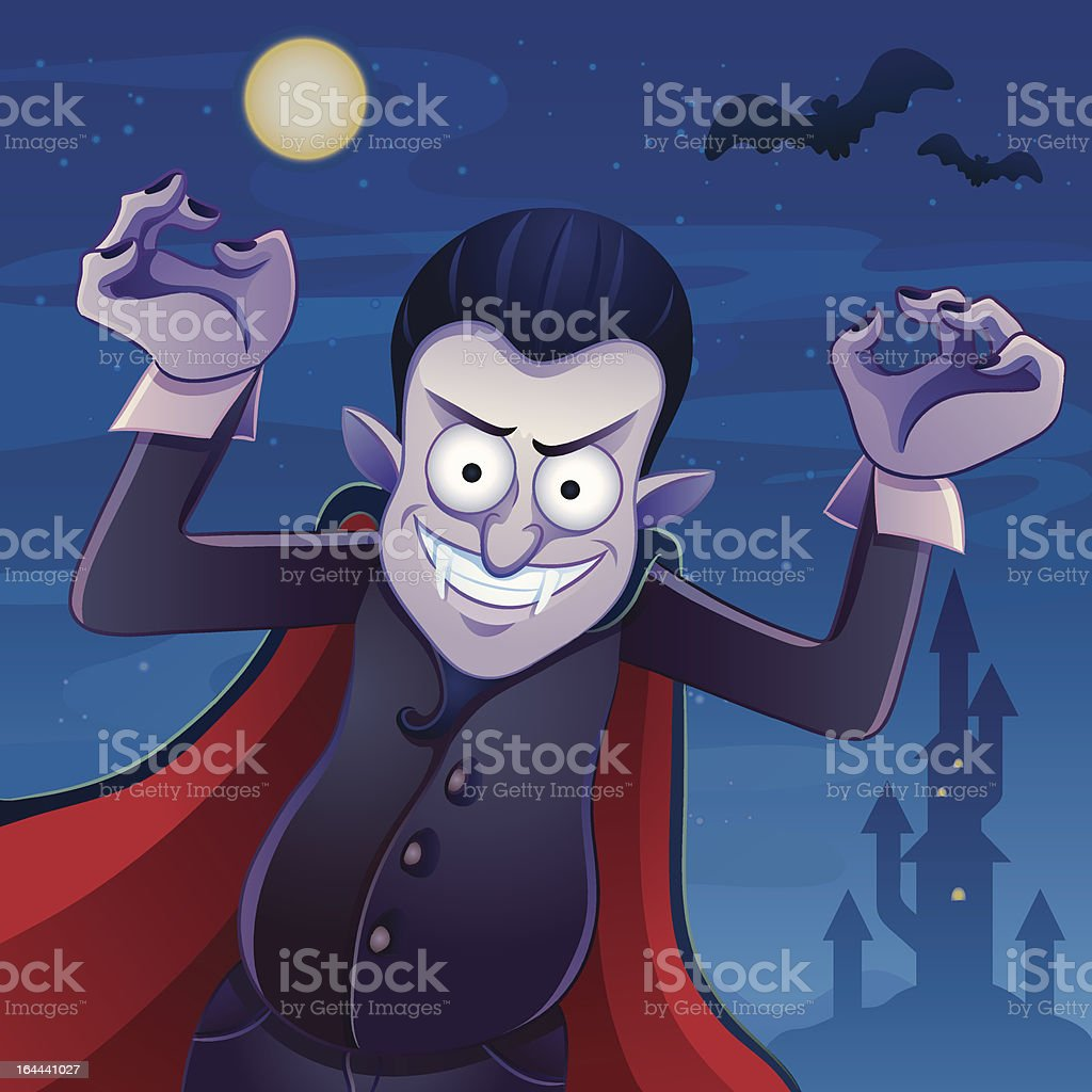 Dracula Cartoon vector art illustration
