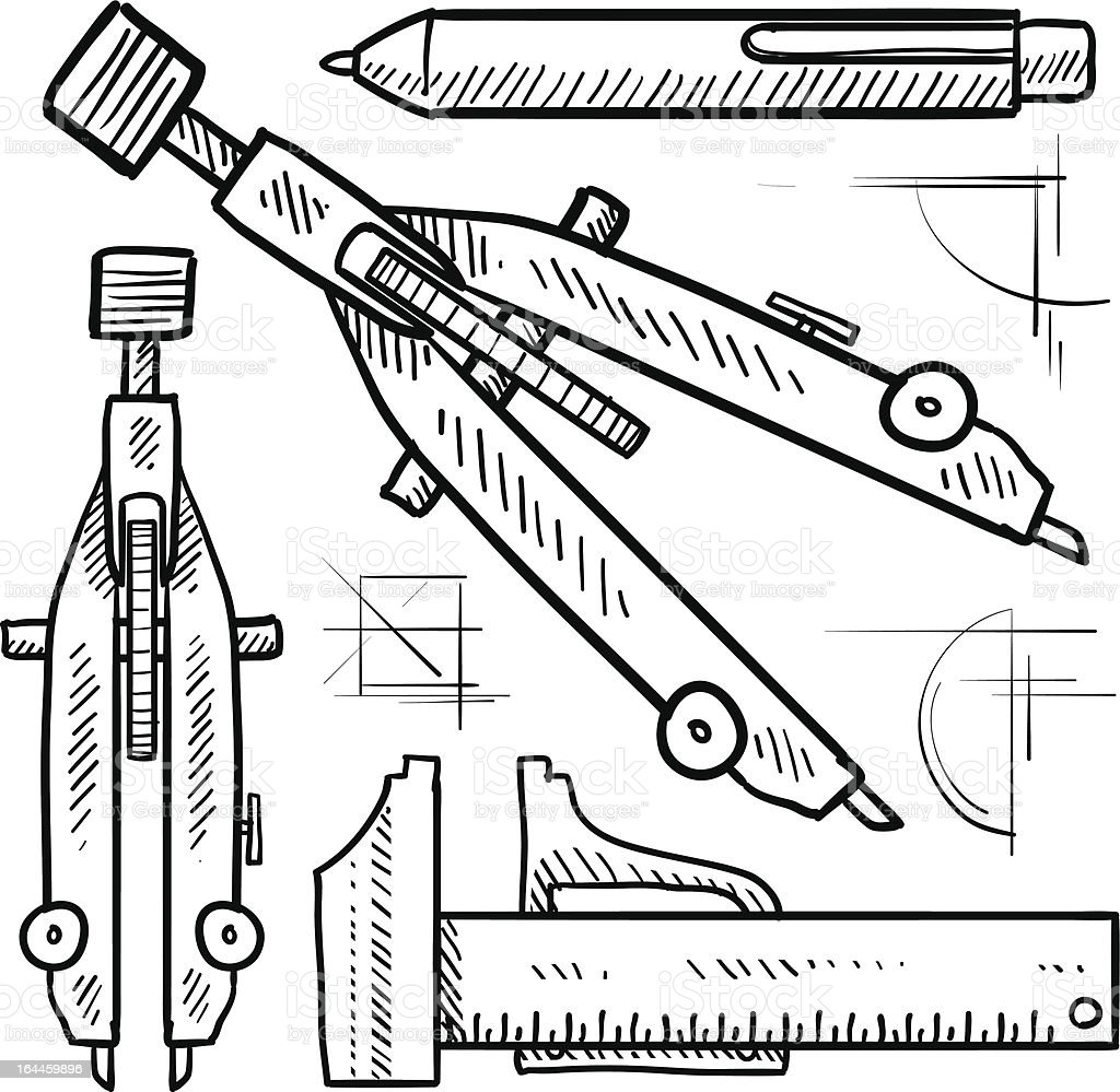 Drafting tools sketch royalty-free drafting tools sketch stock vector art & more images of accuracy