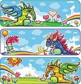 Dragon fairy banners