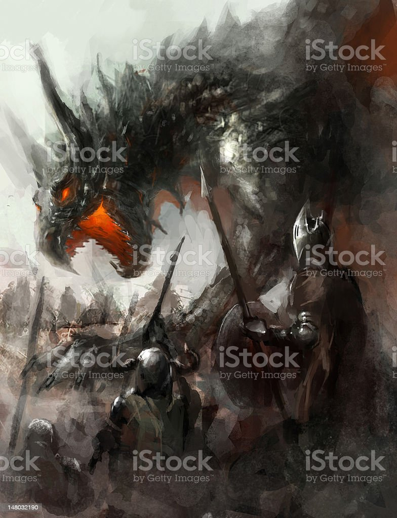 dragon hunt royalty-free dragon hunt stock vector art & more images of aggression