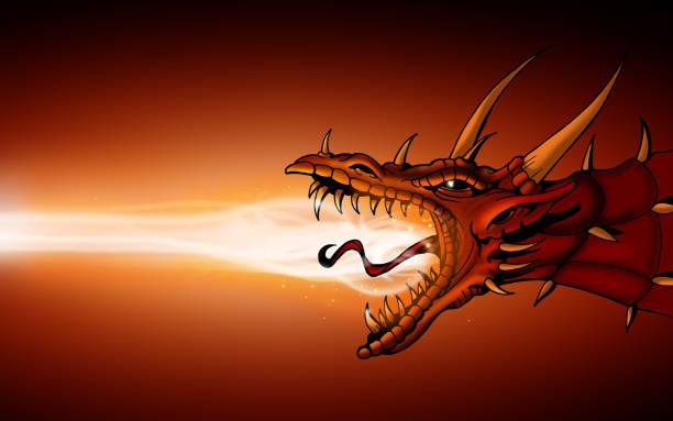 Dragon vector art illustration