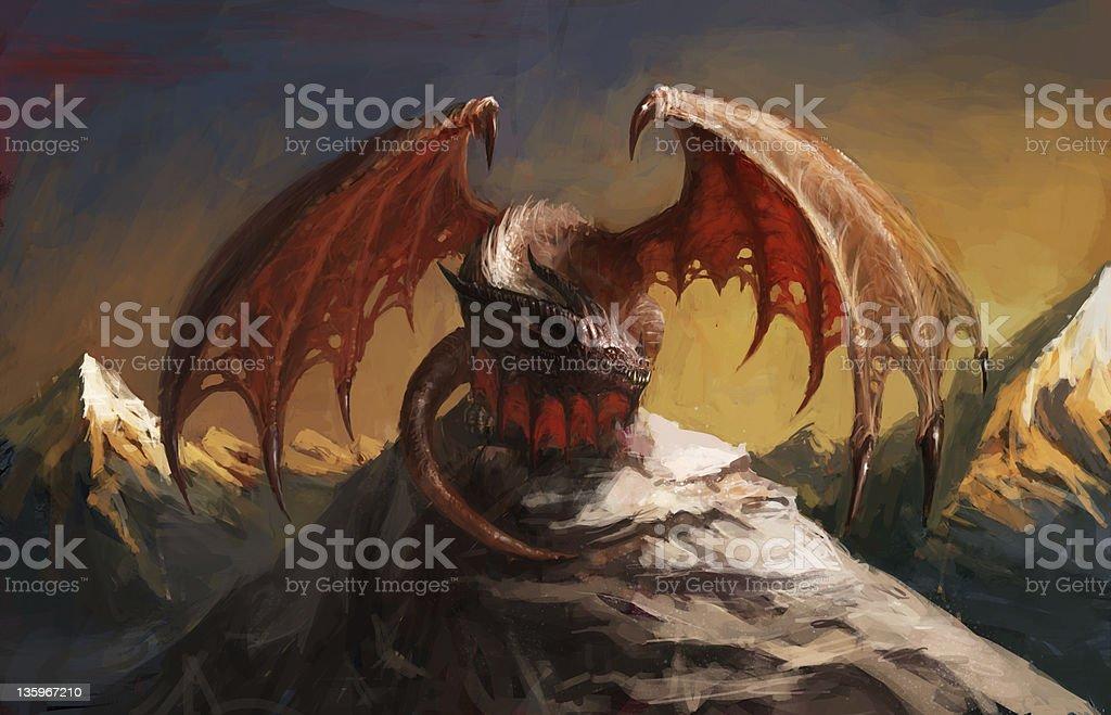Dragon mountain royalty-free dragon mountain stock vector art & more images of animal