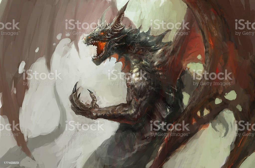 dragon rage royalty-free stock vector art
