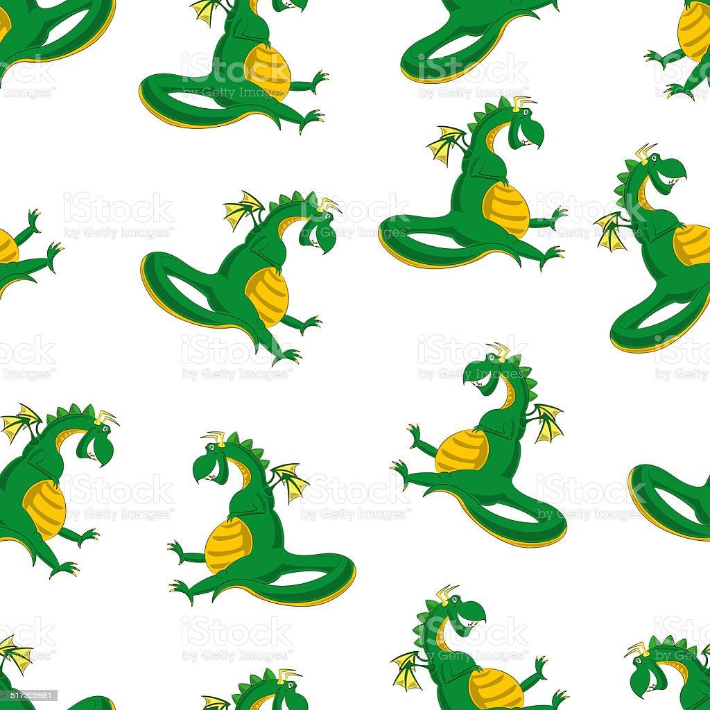 Ilustración de Dragon Patrón Sin Costuras y más banco de imágenes de ...