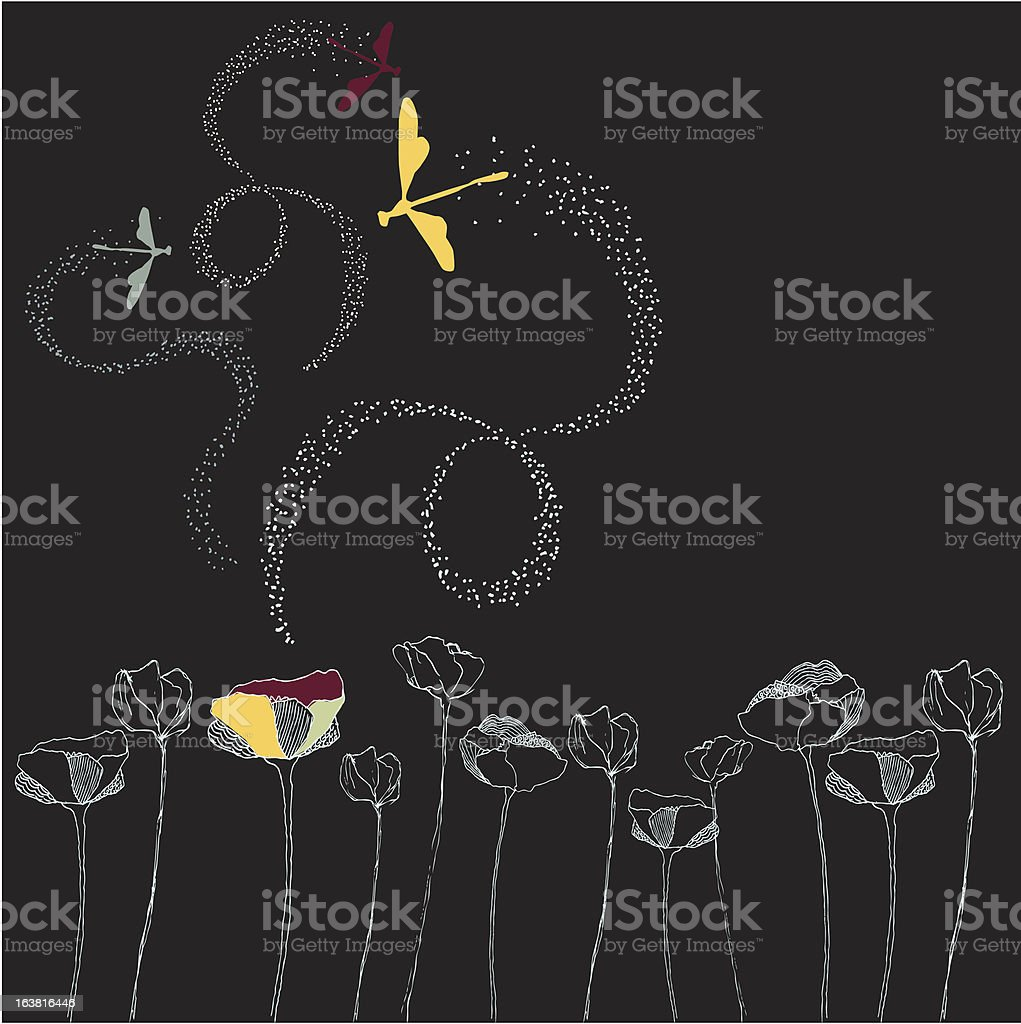 Dragonfly Party royalty-free stock vector art