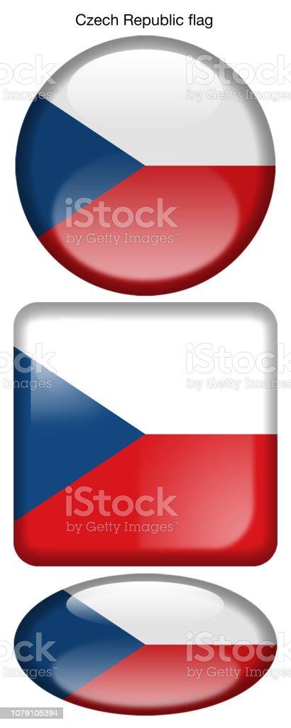Drapeau de Drapeau de la République Tchèque, République tchèque drapeau de drapeau de la république tchèque république tchèque vecteurs libres de droits et plus d'images vectorielles de badge libre de droits