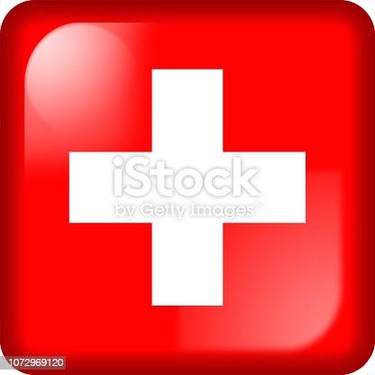 istock Drapeau de la Suisse, Switzerland flag 1072969120