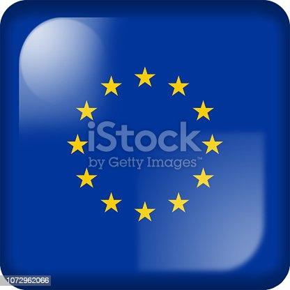 istock Drapeau de l'Europe, Europe flag 1072962066