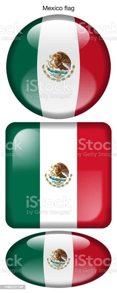 Drapeau Du Mexique Mexico Flag Stock Vector Art More Images Of