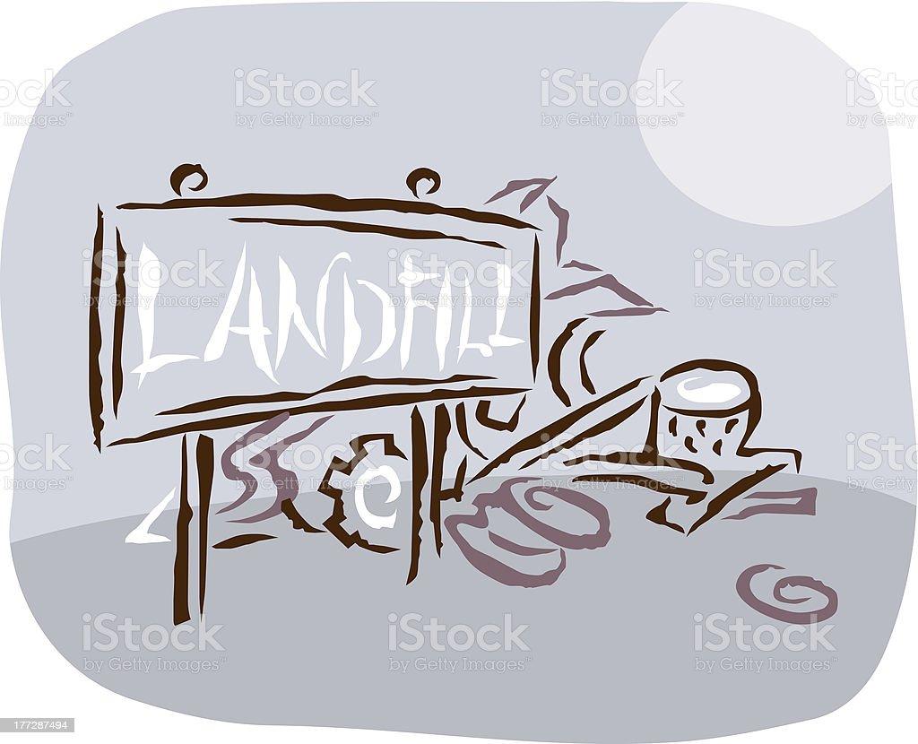 Ilustración de Dibujo De Un Vertedero y más banco de imágenes de ...