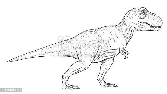 dibujo dinosauriomano bosquejo