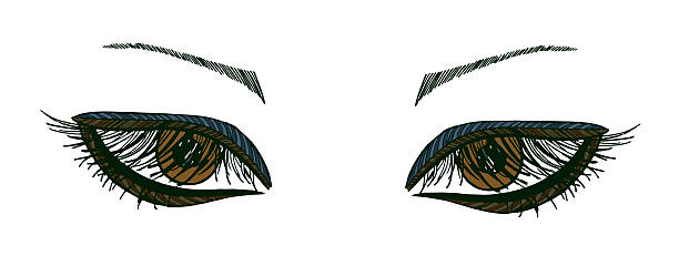 Best Brown Eyes Illustrations, Royalty-Free Vector Graphics