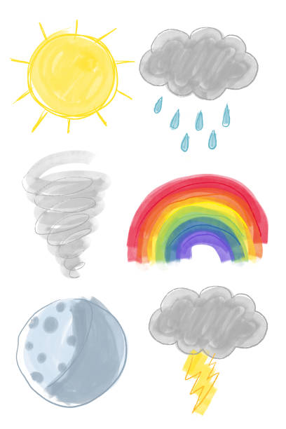Drawn weather icons Weather icons drawing kathrynsk stock illustrations