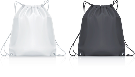 Vector illustration of classic drawstring backpack
