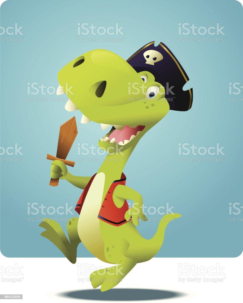 Dread Pirate Rex royalty-free stock vector art