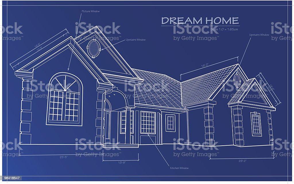 Dream Home Blueprint [vector] royalty-free stock vector art