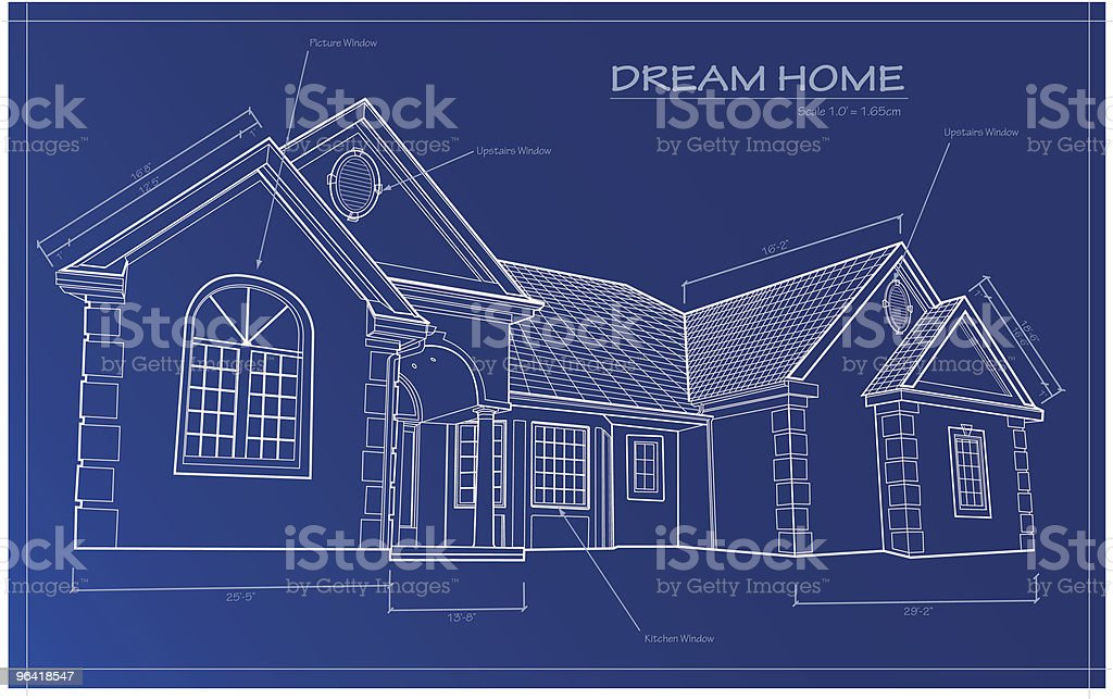 Dream Home Blueprint [vector] vector art illustration