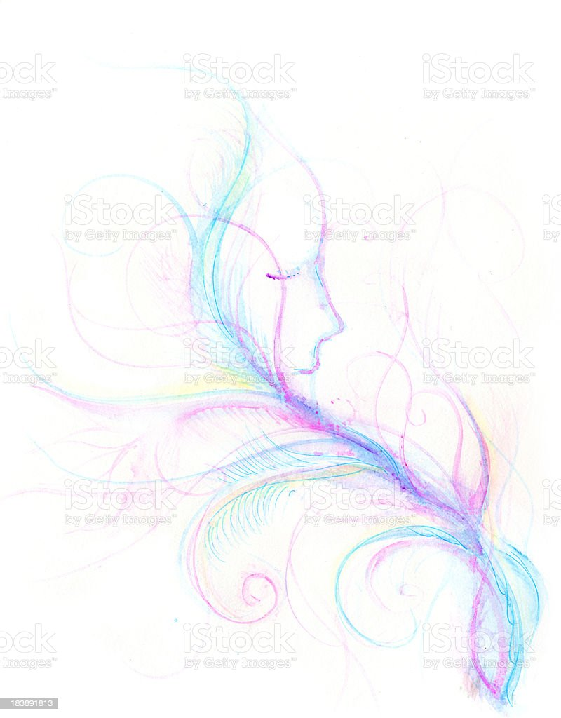 dream into life vector art illustration