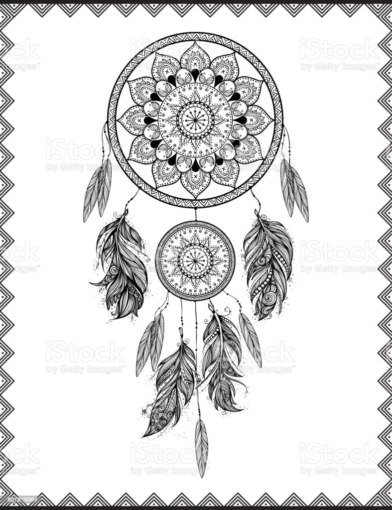 Dreamcatcher, illustration pixellisée copie. - Illustration vectorielle