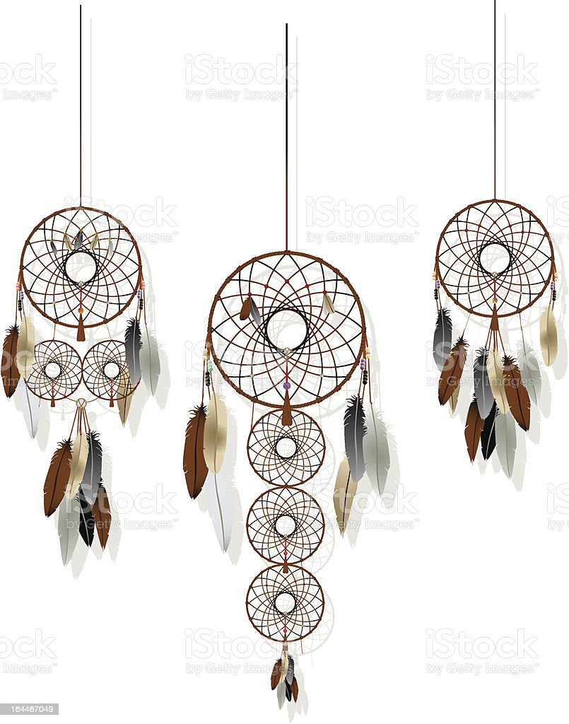 Dreamcatchers set royalty-free stock vector art
