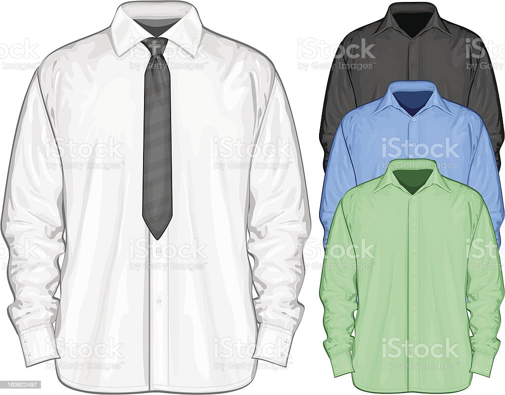 Dress shirt vector art illustration