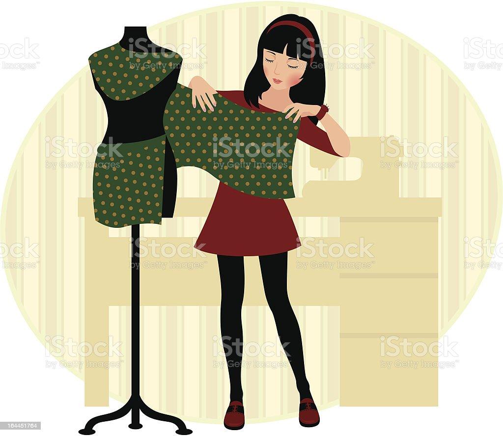 Dressmaker vector art illustration