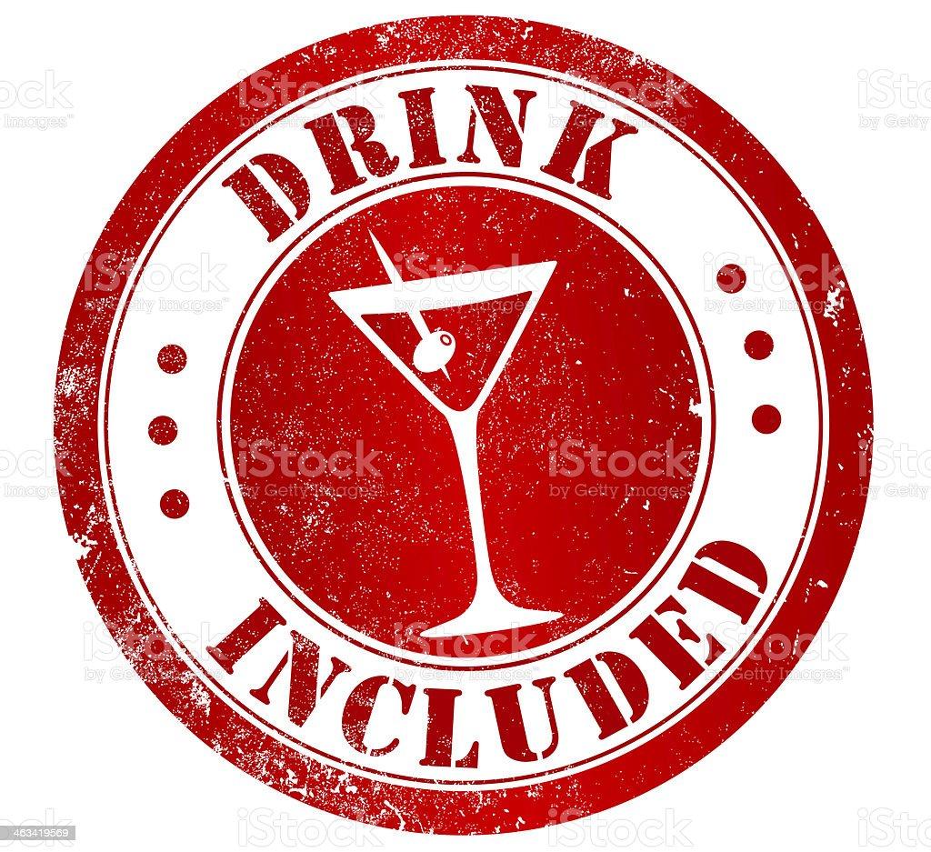 Sello de bebidas incluye - ilustración de arte vectorial