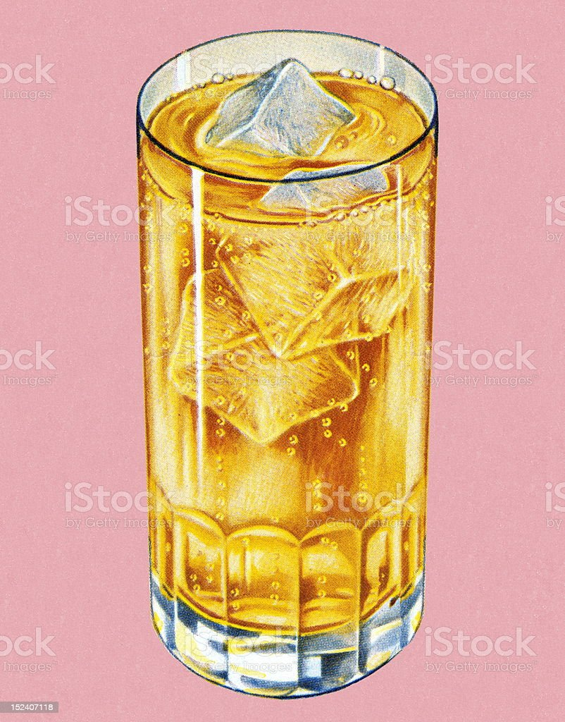Drink With Ice vector art illustration