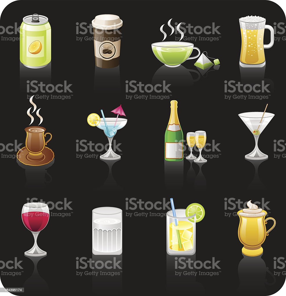 Drinks black royalty-free drinks black stock vector art & more images of alcohol