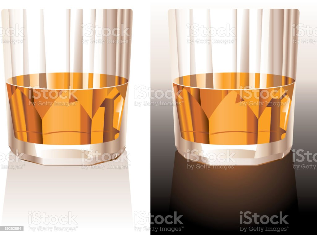 Drinky - Whiskey glass royalty-free stock vector art